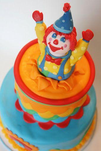 cute clown cake