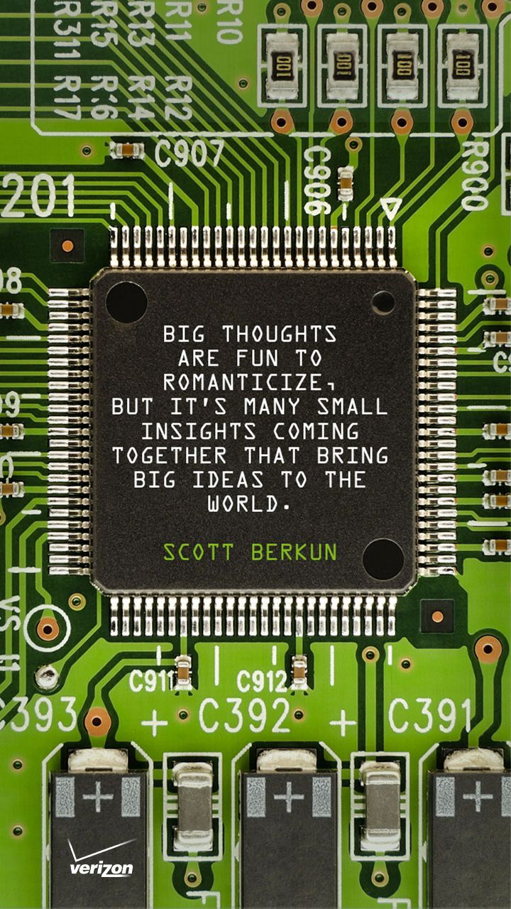 Thinking big is great. But thinking small can be just as powerful. Great advice from one of the world's great minds.