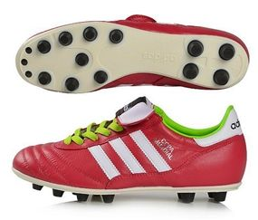 Add color to a classic. Get a pairof the limited edition Adidas Copa Mundial FG Soccer Cleat (Vivid Berry/Running White/Solar Slime) at www.soccercorner.com