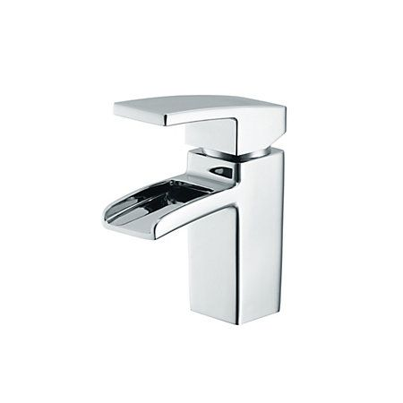 Cooke & Lewis Havasu Waterfall 1 Lever Basin Mixer Tap | Departments | DIY at B&Q
