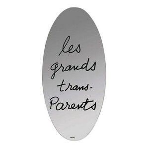 """Fine """"Les Grands Trans-Parents"""" mirror from the Ultramobile (""""Beyond Furniture) series by Man Ray for Simon Gavinna. Signed. Provenance: private collection, acquired directly from Sergio & Priscilla Pallazetti. dimensions: Height: 71, Width: 36"""