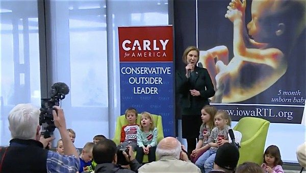 Carly Fiorina Ambushes Preschoolers, Uses Them in Anti-Abortion Campaign Event: WATCH