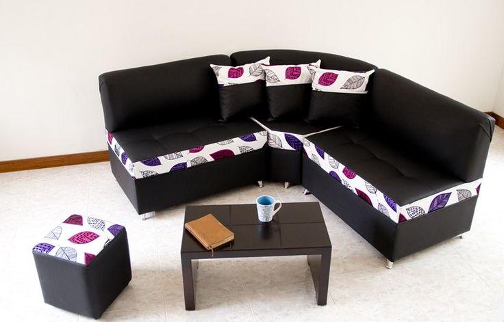 Esquinero Japonés + 3 Cojines + Puf, sus medidas son de 1,60 *1,60 *0,60 de fondo, ideal para apartamentos pequeños o un aparta estudio, el color puede ser fondo entero en negro, café. Blanco, beige, rojo y otros. $ 729.000