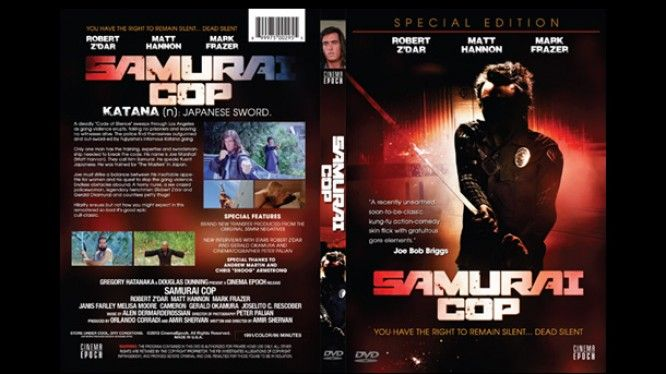 Samurai Cop - Limited Edition - Returns Matt Hannon Robert Z'Dar Mark Frazer Gregory Hatanaka