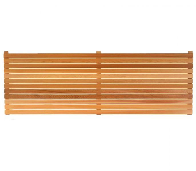 CSP180Wsq - Cequence Slatted Fence Panel 180cm W x 180cm H - Square Edged - Square Edged Panels