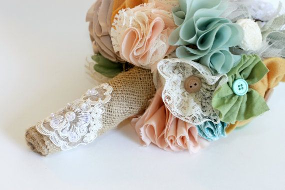 I have found a new addiction!: Beautiful Assort, Bridal Bouquets, Fabrics Flower, Shabby Chic, Assort Handmade, Buttons Bouquets, Alternative Bouquets, Fabrics Bouquets, Handmade Bouquets