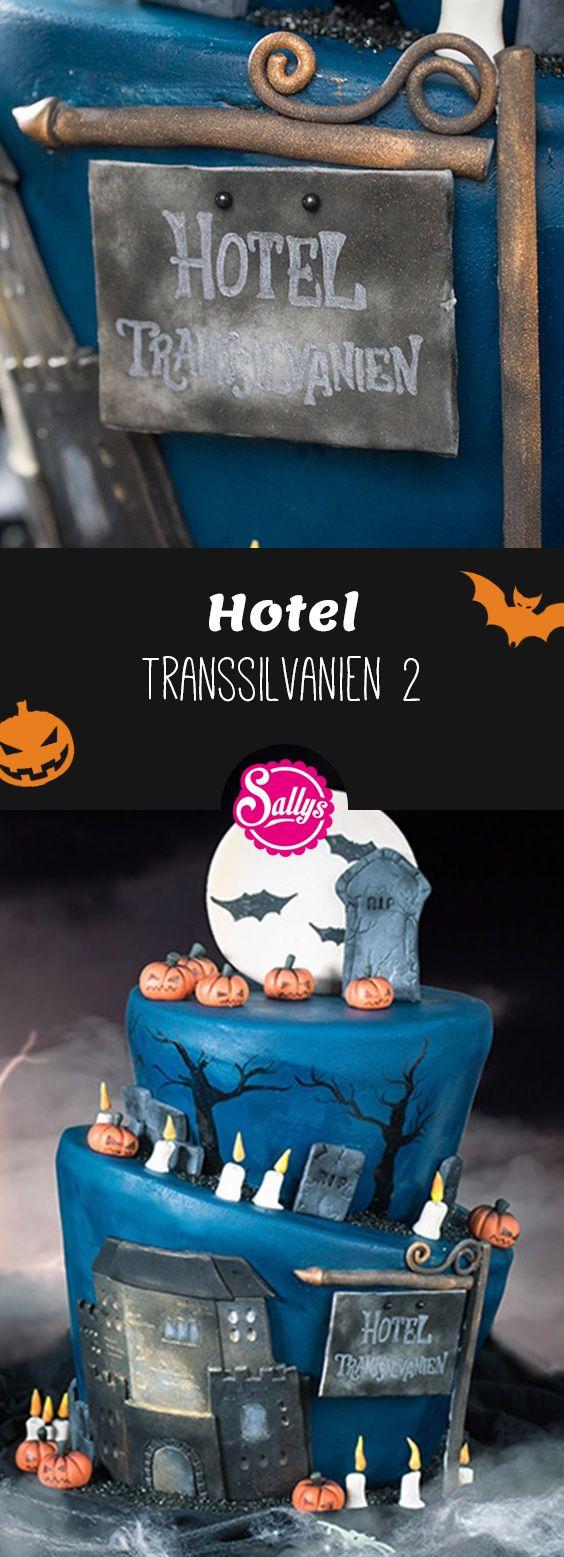 """Eine gruselig-schaurige Torte zum Kinostart des Films """"Hotel Transsilvanien 2"""" – die ideale Torte für Gruselfans und Halloween-Partys."""