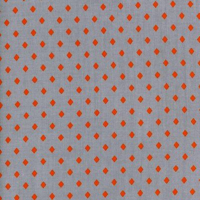 Frock Gemstone Orange on Grey Rayon