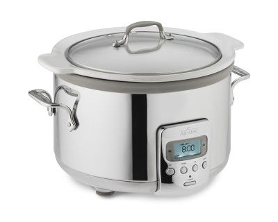 All-Clad Slow Cooker with White Ceramic Insert, 4 Qt. #williamssonoma