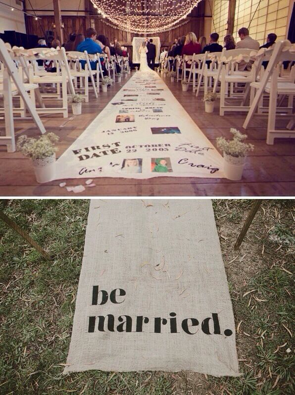 Walking down memory lane. Love this idea! - would be great for a vow renewal.