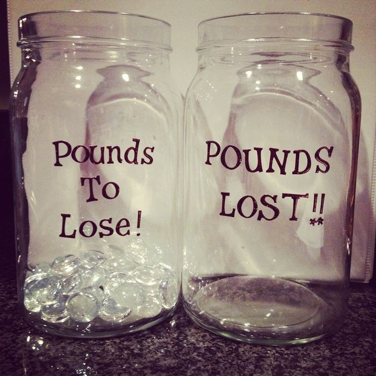 motivational weight loss jars: i am going to do this!