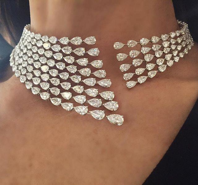 "LUXURY JEWELLERY EVENTS on Instagram: ""@messikajewelry diamond necklace on @the_diamonds_girl ! #messika #messikajewelry #TheDiamondsGirl #diamond #basel2016 #BaselWorld2016…"""
