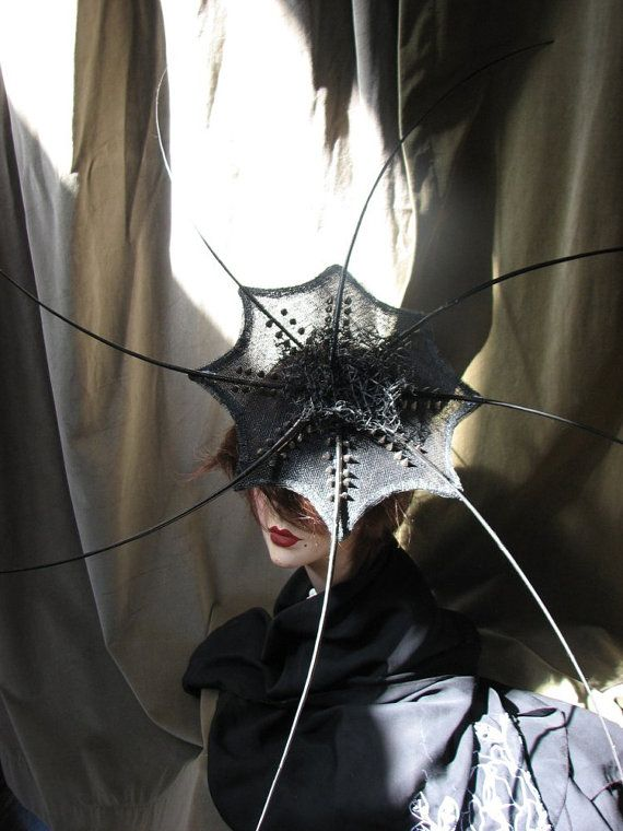 Haute Couture Headpiece Fascinator Vampire Squid by BoringSidney