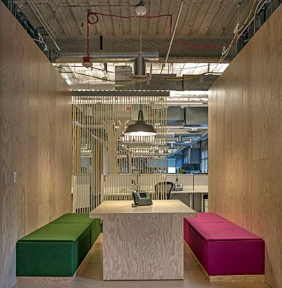 Modern architecture of office conference room