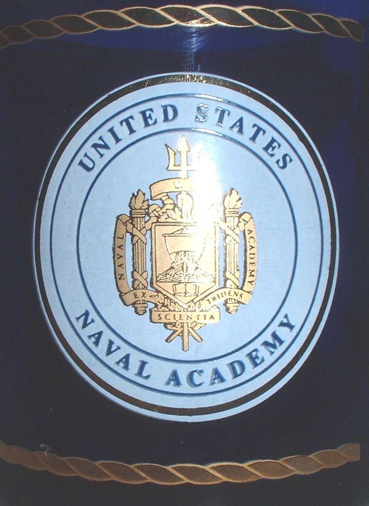 USN US Navy Naval Academy purple glass coffee mug by Nagmashdriver on Etsy