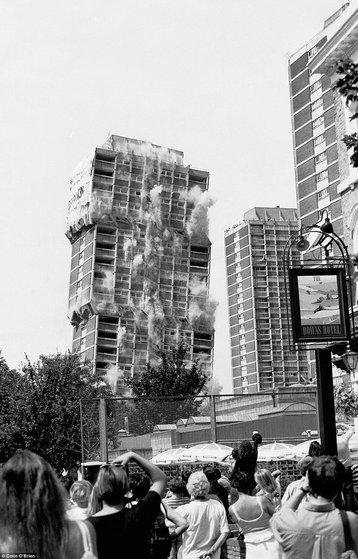 Nightingale Estate, Hackney Downs, 1999 Hackney Council decided that many of their high-rise blocks were failures as housing and decided to blow them up. Of the six towers that made up the estate, five were demolished. Since 2003, low-rise buildings have been constructed where the blocks once stood