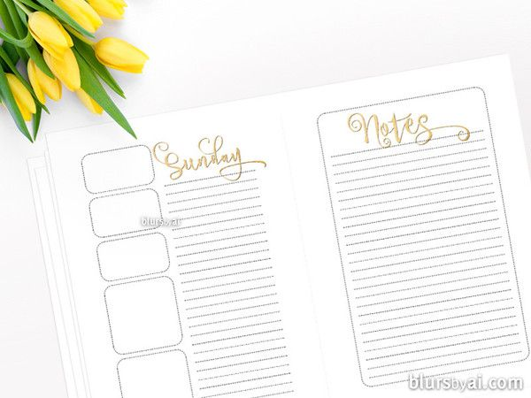 a5 printable printable daily printable planners notes sheet a4 sheet ...