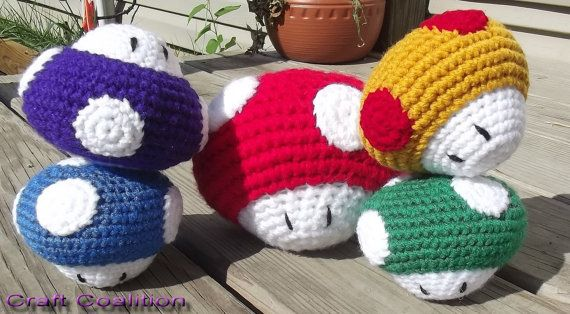 Large Amigurumi Mario Inspired Super Shroom  Any by CraftCoalition