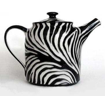 Zebra Stripe Teapot