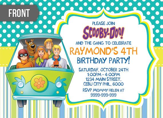 57 best LJs 6th Scooby Doo Bday images on Pinterest Scooby doo