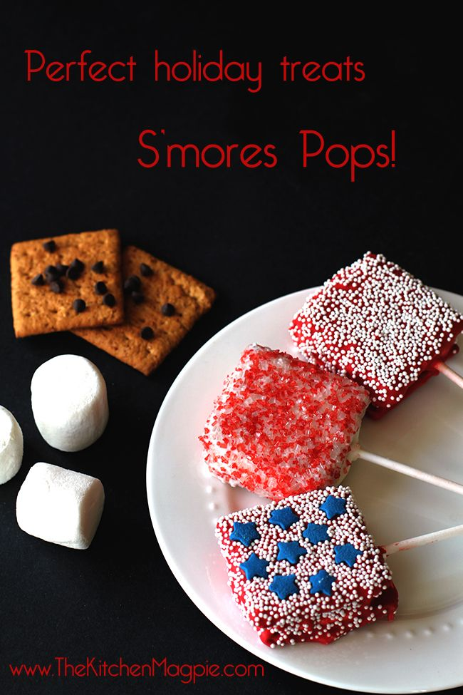 S'mores pops! Perfect for Canada Day and Fourth of July! #recipes #food #dessert #canadaday #fourthofjuly