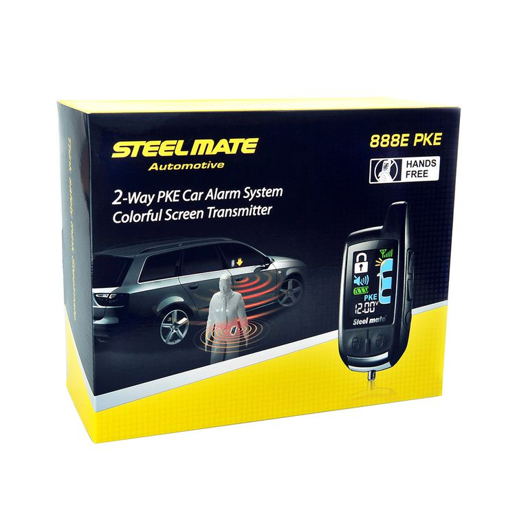 sale steelmate car alarm keychain 888e two lcd alarm auto security system with remote start #door #security #devices