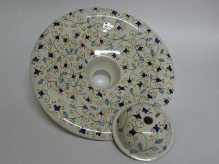 ( CODICE ARTICOLO: ILL/04) Lampadario in ceramica a sospensione dipinto a mano con motivo arabo. Tecnica: maiolica