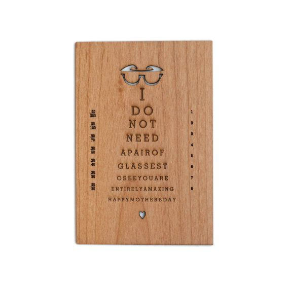 Mother's Day Card -- Entirely Amazing Mother (Real Wood Card)