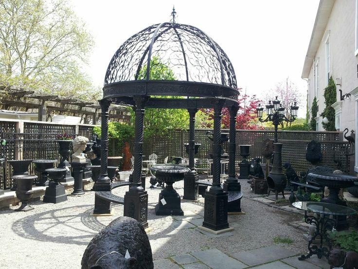 Cast iron gazebo in our courtyard in Niagara