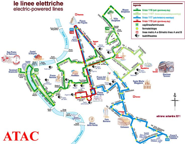 Rome Electric Bus Routes