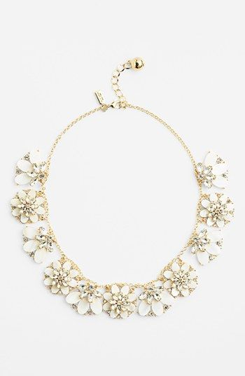kate spade new york 'bungalow bouquet' bib necklace available at #Nordstrom