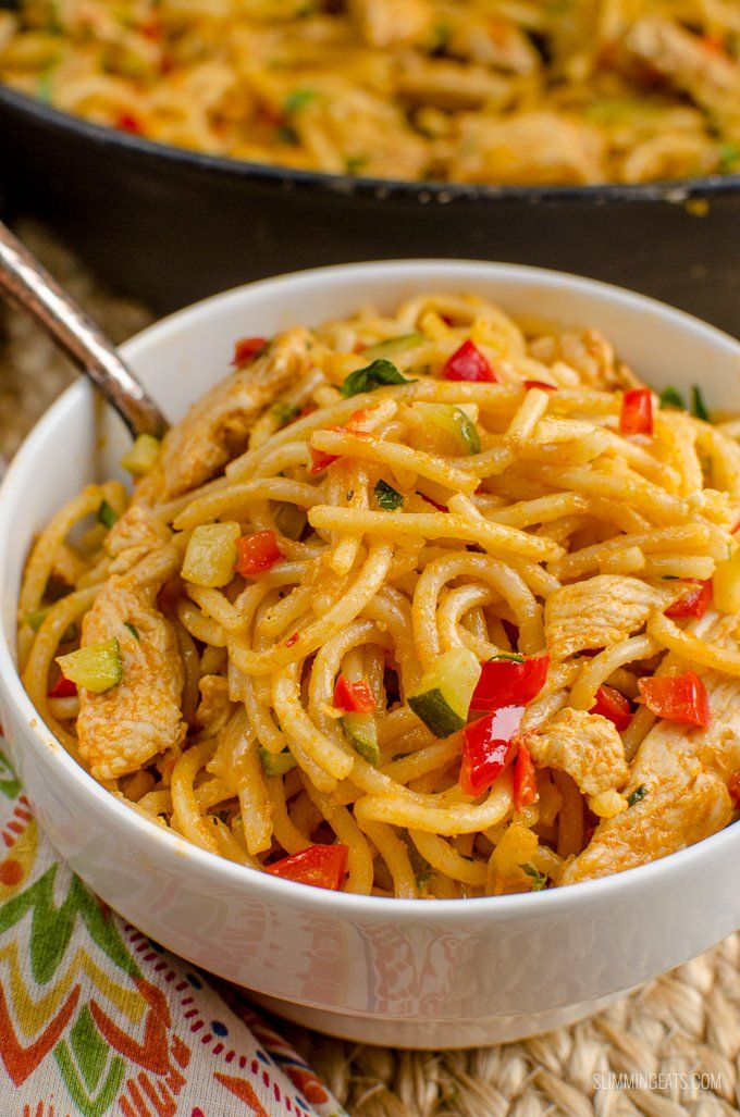 This bang bang chicken pasta just might be the best Slimming World Recipe of 2018. A delicious spicy creamy pasta dish that the whole family will love at only 2.5 syns per serving.