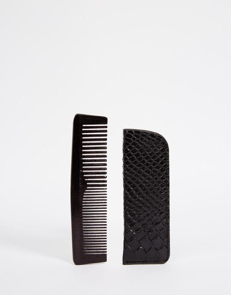 Wooden Comb And Case http://bit.ly/1lkKvBV