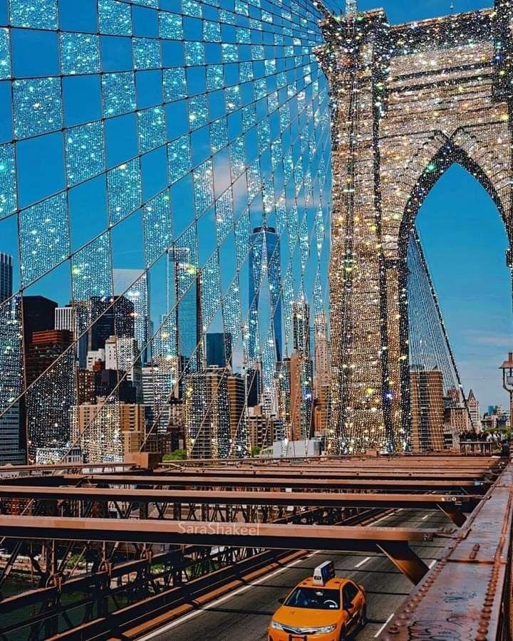 Brooklyn Bridge Collageart Sarashakeel By Sarashakeel On Instagram City Aesthetic Photo Aesthetic Pictures