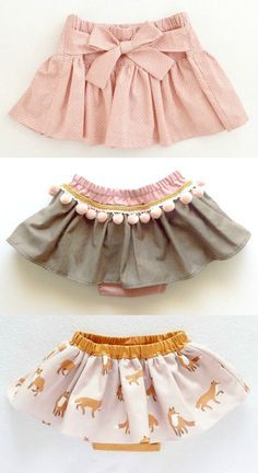 Handmade Skirts With Bloomers | moonroomkids on Etsy (Diy Ropa Bebe)