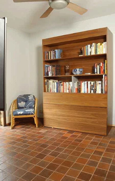 zoom room murphy bed that rolls up behind cabinet such a cool idea for guest bed or small apartment