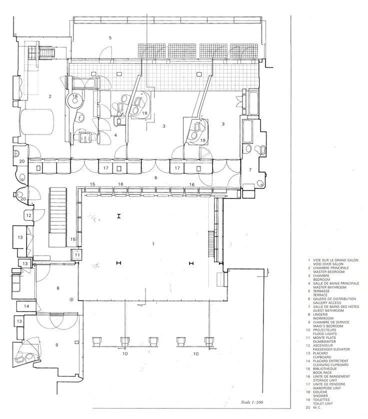 Maison de verre paris pierre charreau 1929 32 plans for Plan maison pierre
