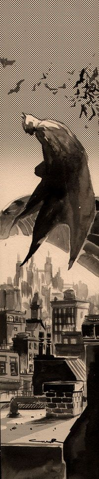 Batman - I love how much of the city we can see beneath him and how much of the sky we see above. The perspective of this pic is excellent.