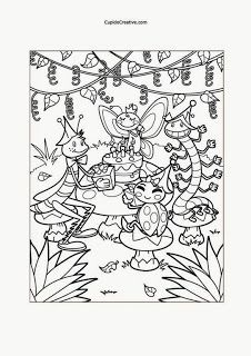 Kerajinan Anak - Mewarnai Piknik Serangga - Cupido Creative