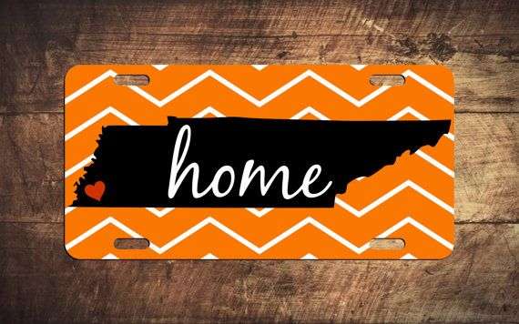 TENNESSEE HOME CUSTOM LICENSE PLATE! Customize yours! #Tennessee #Vols #rockytop #TennesseeMonogram #TN #Memphis #MemphisTN