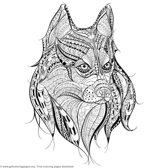 Patterned Zentangle Dog Coloring Pages Free Instant Download Coloring Coloringbook Coloringpages Zent Dog Coloring Page Horse Coloring Pages Coloring Pages