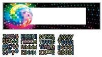 Disco, Kişiselleştir Dev Afiş Parti Dekorasyonu - Banner/Afiş Kişiye Özel Parti Malzemesi:  1.65m x 50.8cm ebatında 1 dev afiş; kendinden yapışkanlı 120 harf, rakam ve sembol. Afişin üzerine kişisel mesajınızı yazabilirsiniz.  Özel kutlamalar, doğum günü partileri, bekarlığa veda partileri, yılbaşı partileri, için istediğiniz mesajı yazabileceğiniz ideal parti malzemesi.