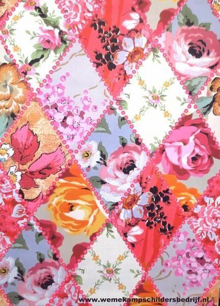 patchwork behang