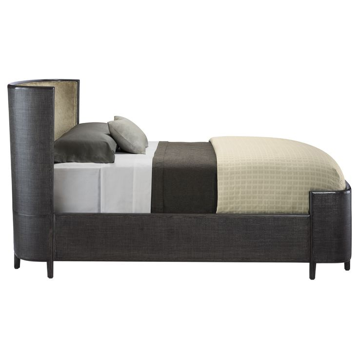 Buy Barbara Barry Half Moon Bed (Queen) by McGuire Furniture - Quick Ship designer Furniture from Dering Hall's collection of Contemporary Beds.