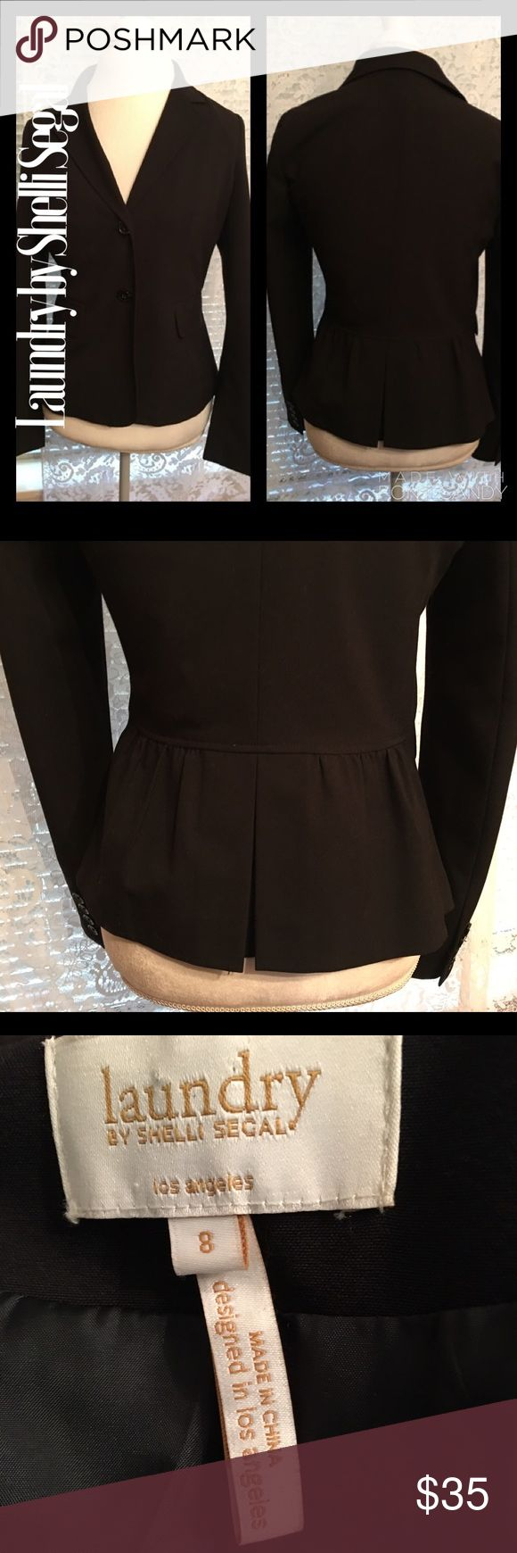 Classy Black Blazer Laundry By Shelli Segal. Classy Black Blazer Laundry By Shelli Segal.  Perfect condition. Goes well with black and white striped dress in my closet by Laundry. Beautiful. Laundry by Shelli Segal Jackets & Coats Blazers