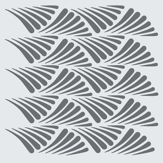 Paint the walls! This pattern snugs up against itself for a repeatable pattern in any direction. Set it at a diagonal for incredible movement.