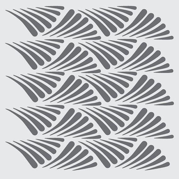 Art Deco Design: #1 on Reusable 10MIL Laser-Cut Stencil - pearldesignstudio