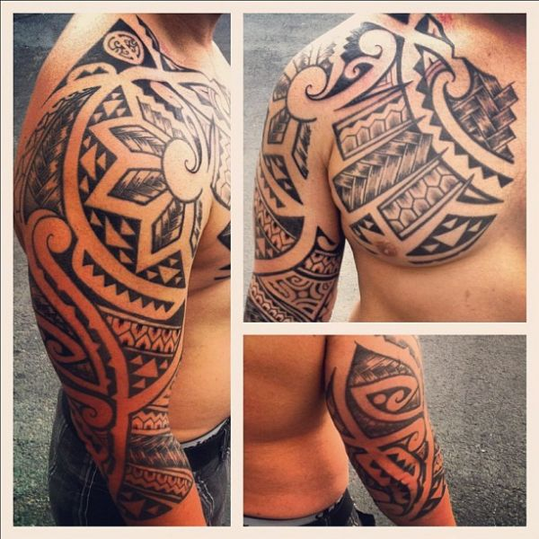 polynesian-half-sleeve-tattoo-08042013-13.jpg (600×600)