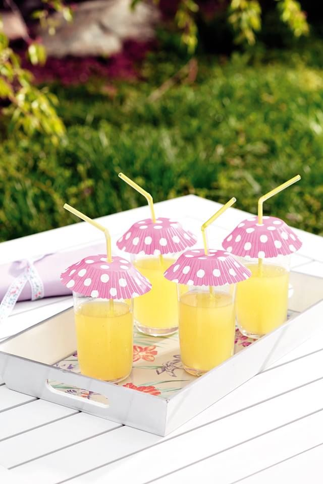 Cute idea for protecting your drinks in outside parties or gatherings