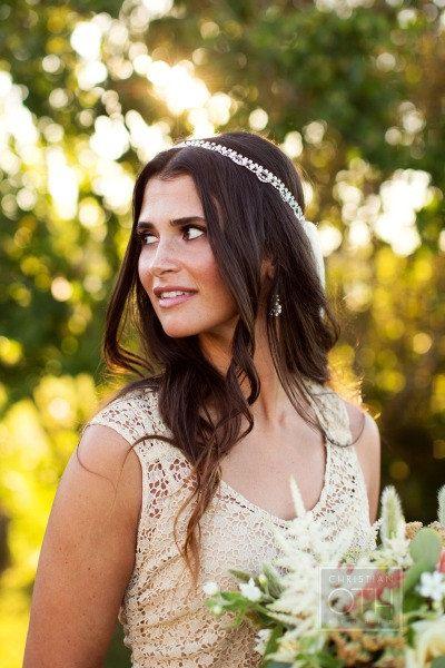 Bridal Hair Piece Bridal Headband Rhinestone by Ta…